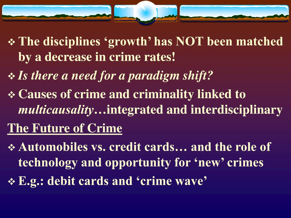 The disciplines 'growth' has NOT been matched by a decrease in crime rates!