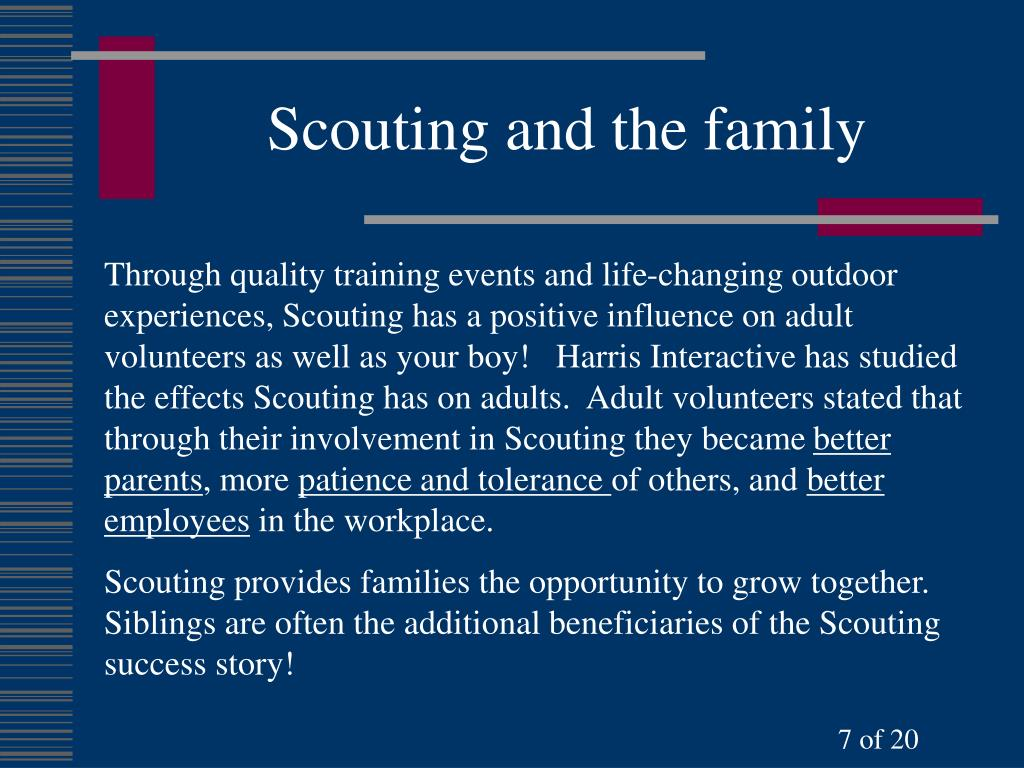 Scouting and the family