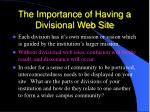 the importance of having a divisional web site