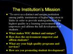 the institution s mission