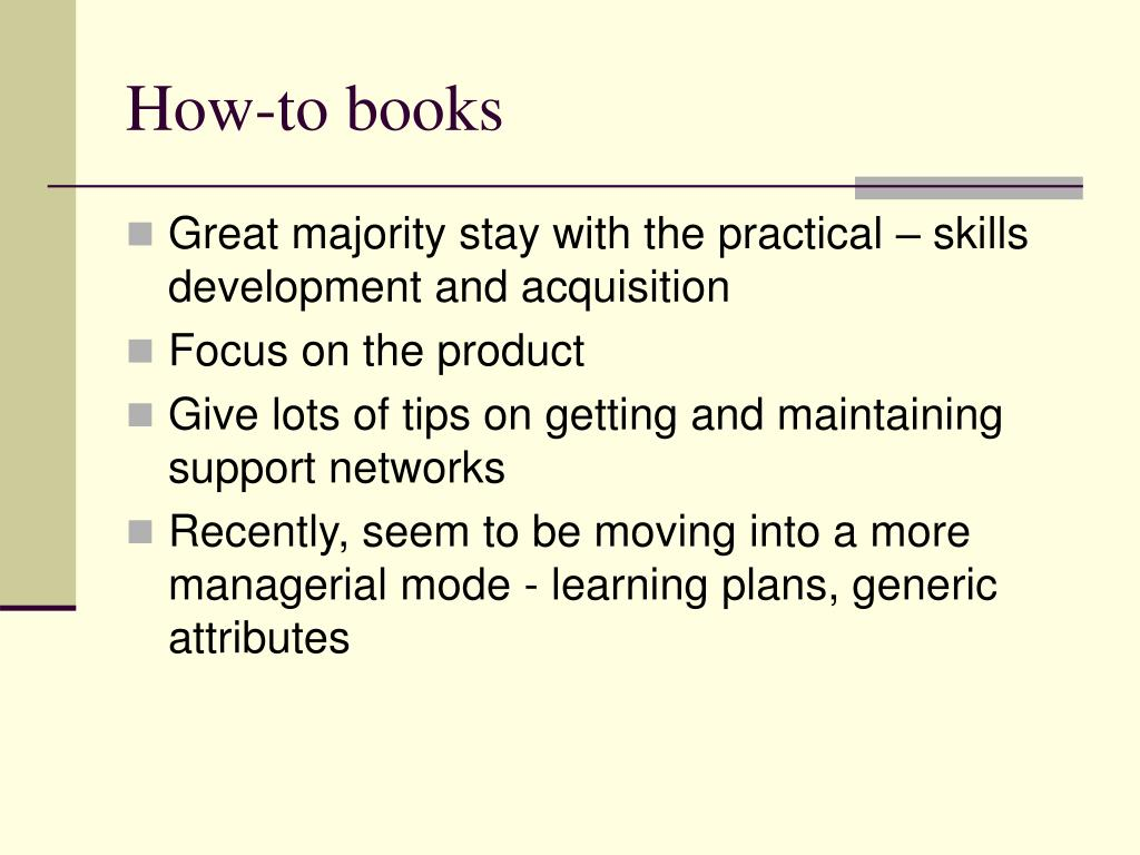 How-to books