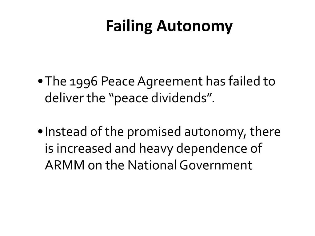 Failing Autonomy