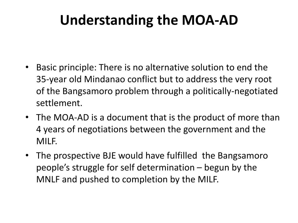 Understanding the MOA-AD