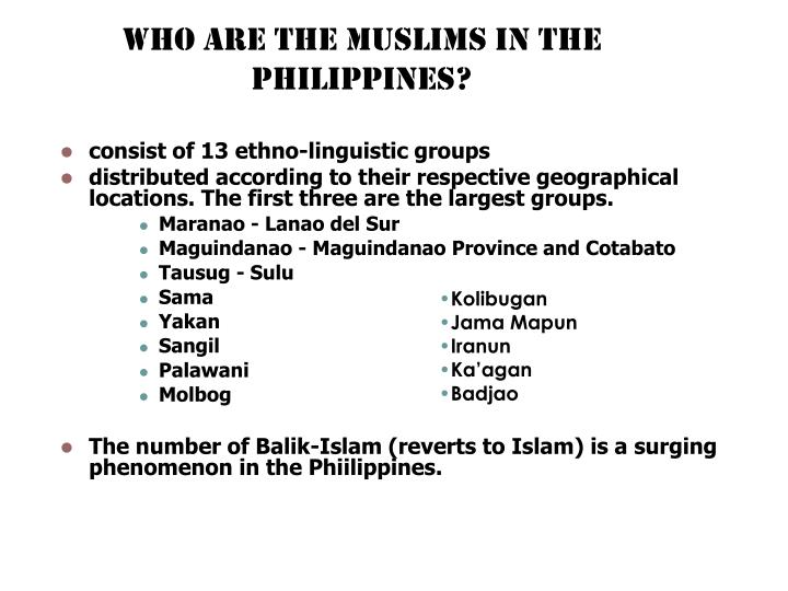 Who are the muslims in the philippines