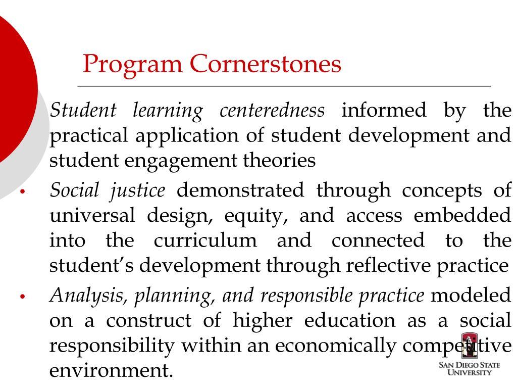 Program Cornerstones