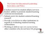 the center for educational leadership innovation and policy