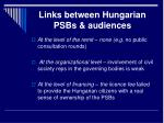 links between hungarian psbs audiences