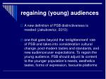 regaining young audiences