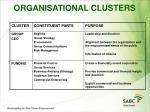 organisational clusters