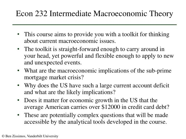 Econ 232 intermediate macroeconomic theory2
