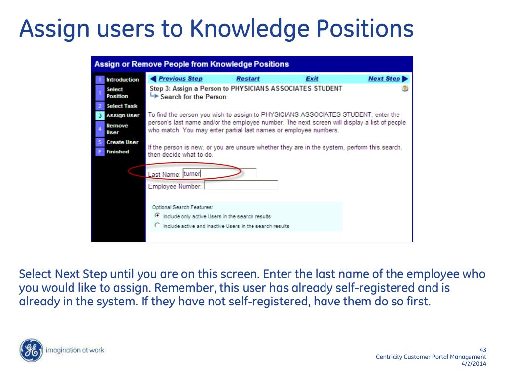 Assign users to Knowledge Positions