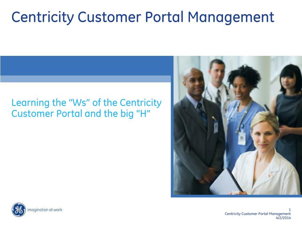 Centricity Customer Portal Management