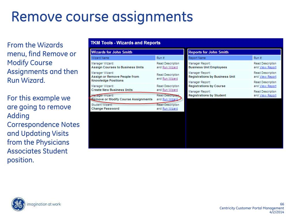 Remove course assignments