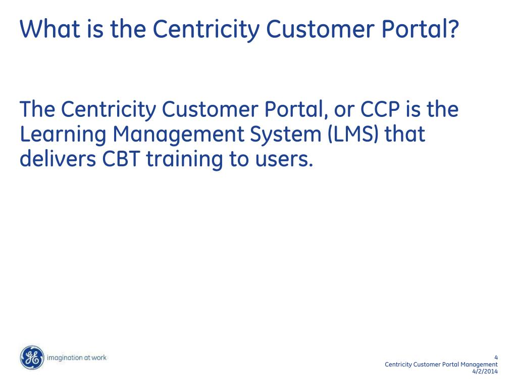 What is the Centricity Customer Portal?