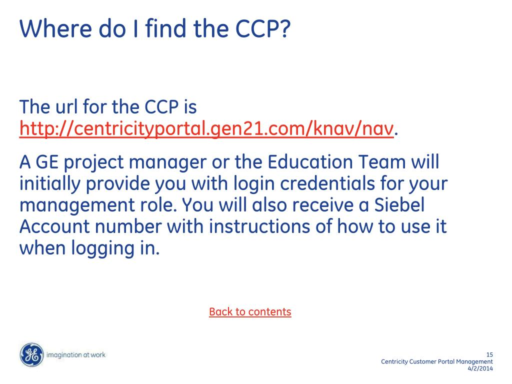 Where do I find the CCP?