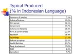 typical produced in indonesian language