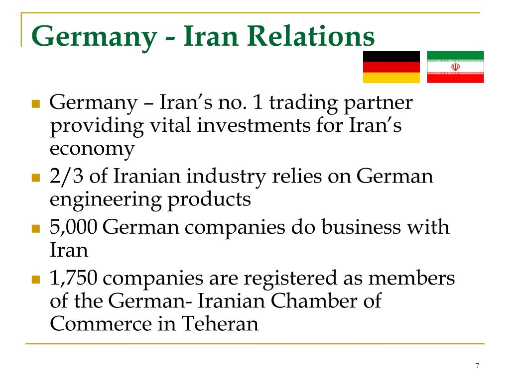 Germany - Iran Relations
