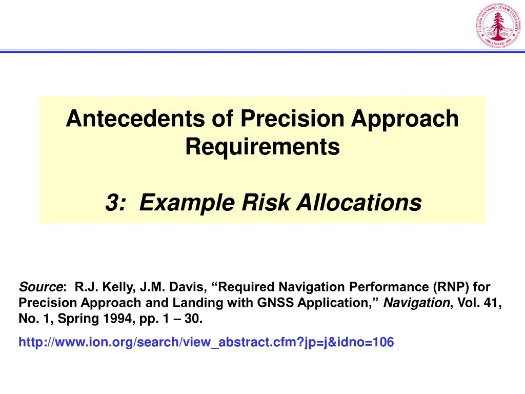 Antecedents of Precision Approach Requirements