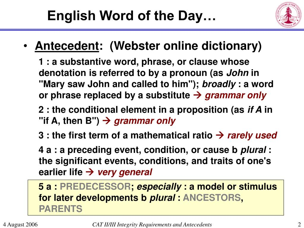 English Word of the Day…