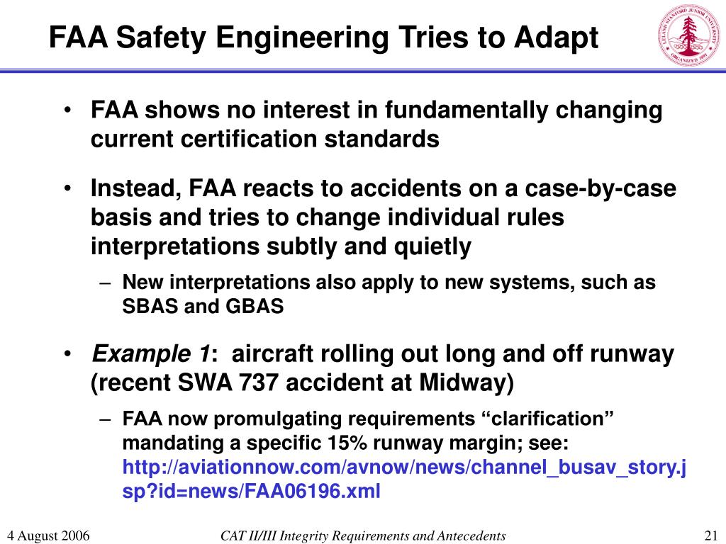 FAA Safety Engineering Tries to Adapt