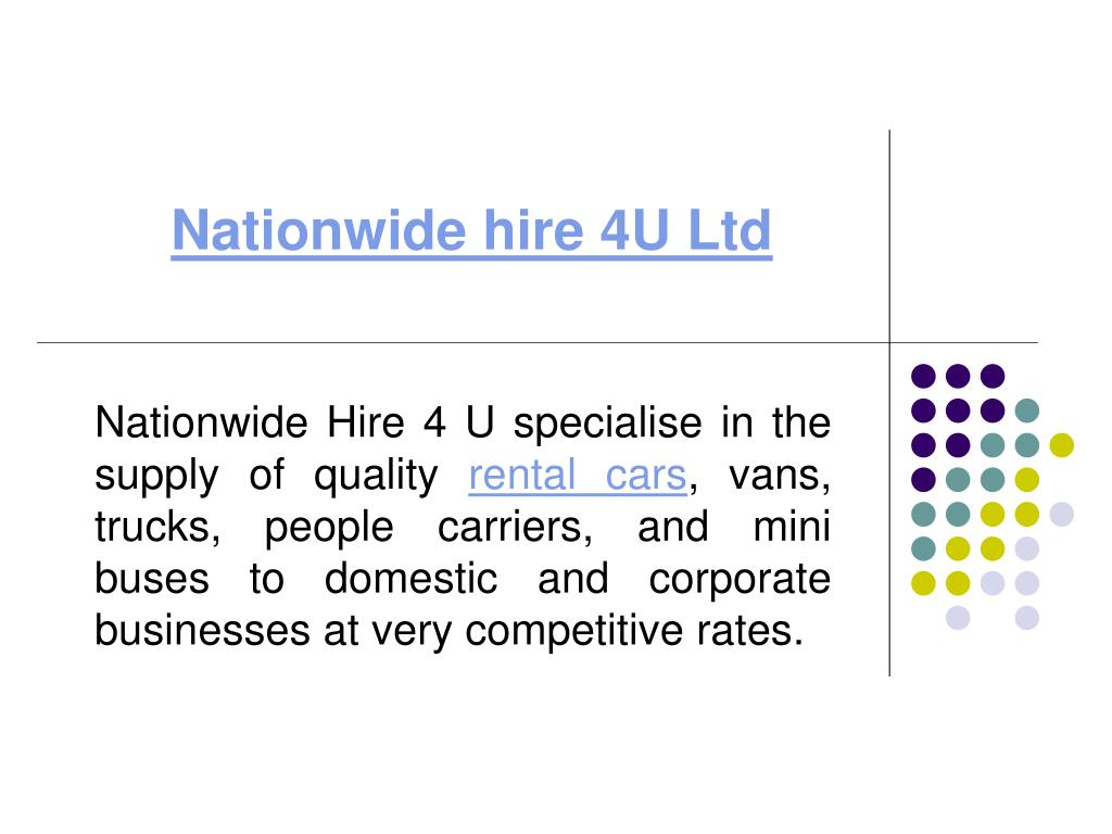 nationwide hire 4u ltd l.