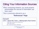 citing your information sources