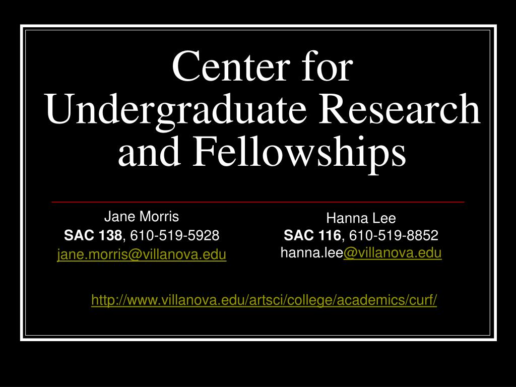 center for undergraduate research and fellowships l.