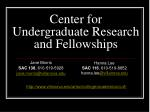 center for undergraduate research and fellowships