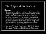 the application process13