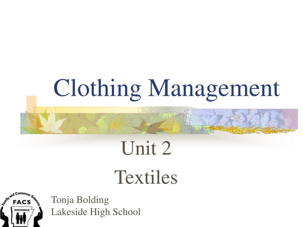 clothing management l.