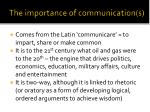 the importance of communication s