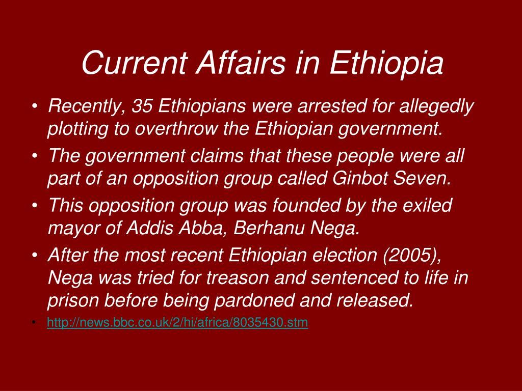 Current Affairs in Ethiopia