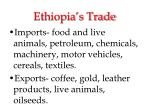 ethiopia s trade