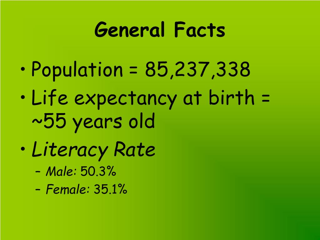 General Facts