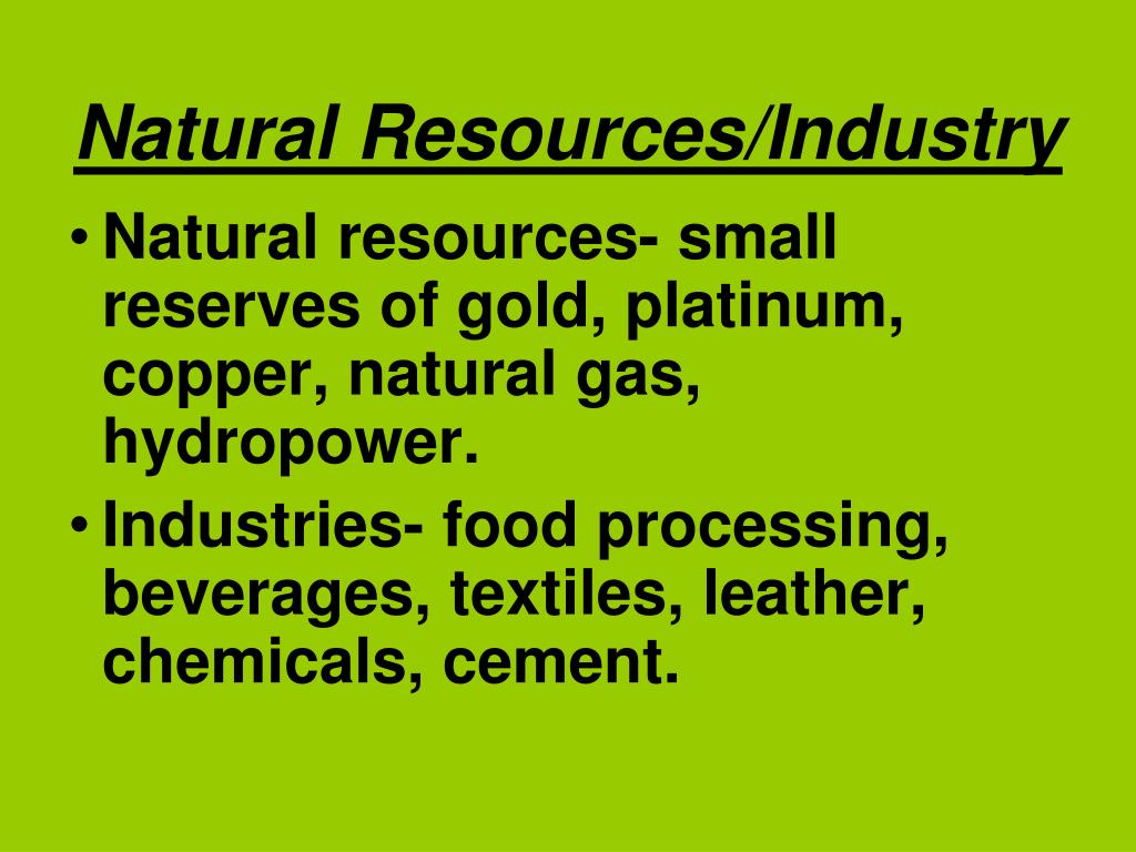 Natural Resources/Industry