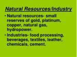 natural resources industry