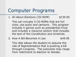 computer programs