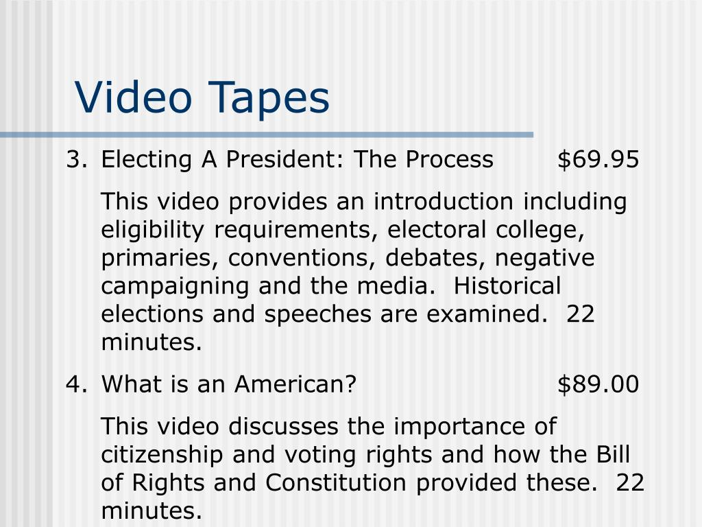 Video Tapes