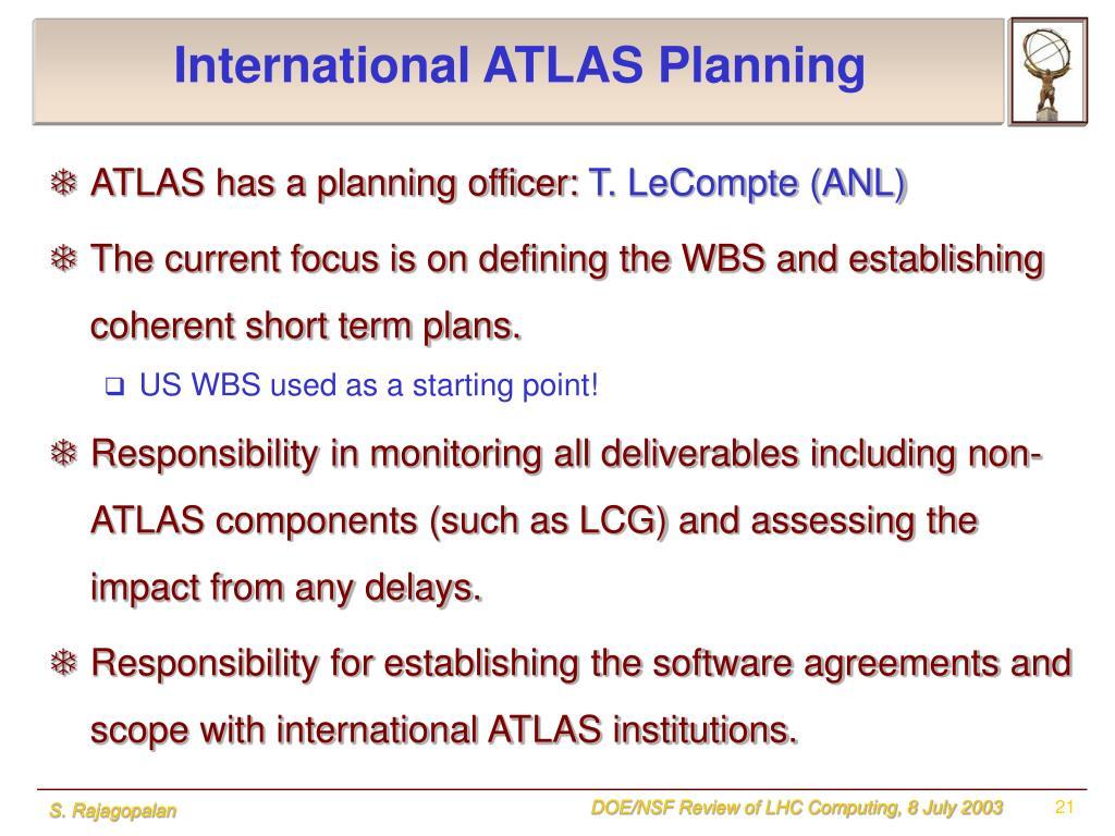 International ATLAS Planning