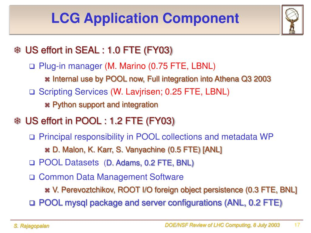 LCG Application Component