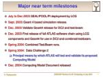 major near term milestones