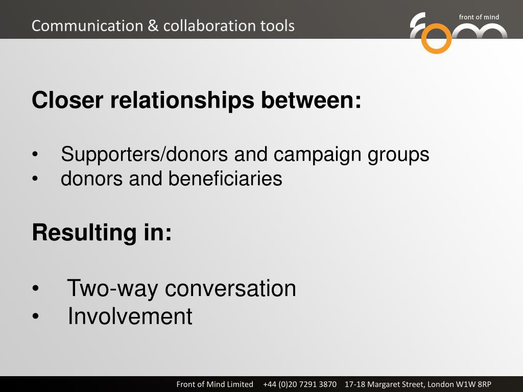Communication & collaboration tools