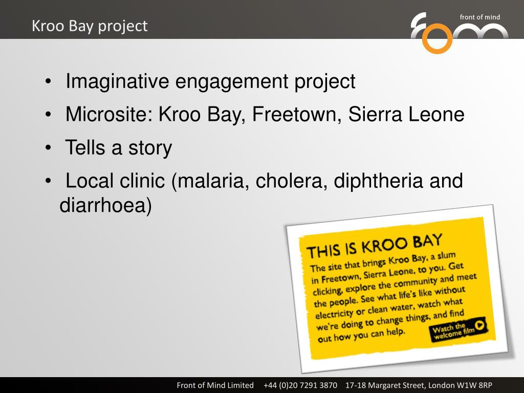 Kroo Bay project