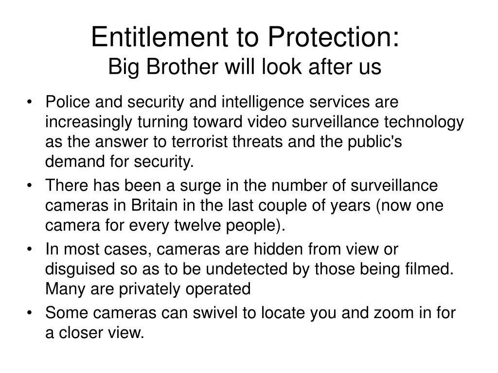 Entitlement to Protection: