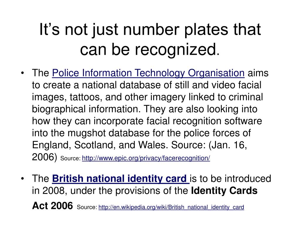 It's not just number plates that can be recognized