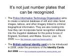 it s not just number plates that can be recognized