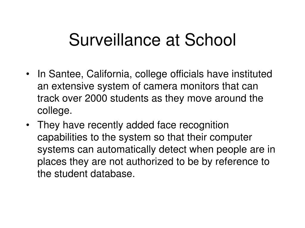 Surveillance at School