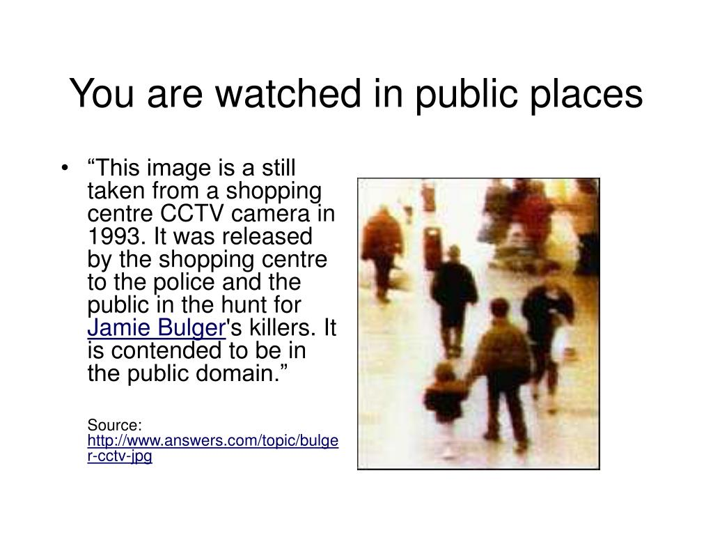 You are watched in public places