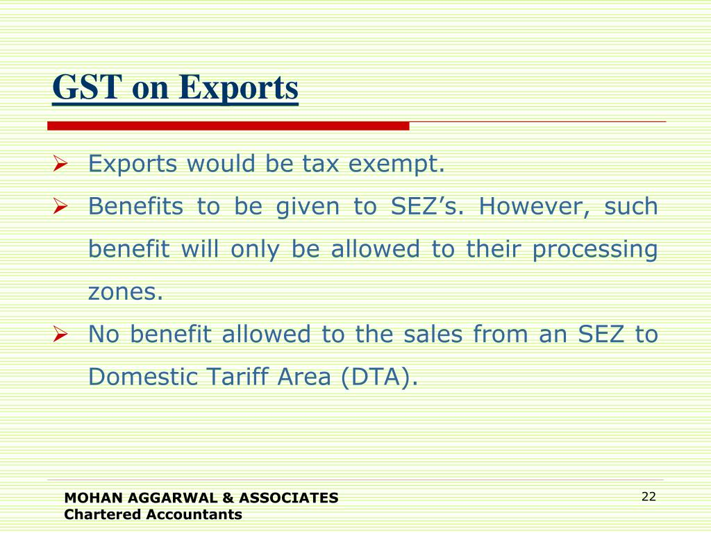GST on Exports