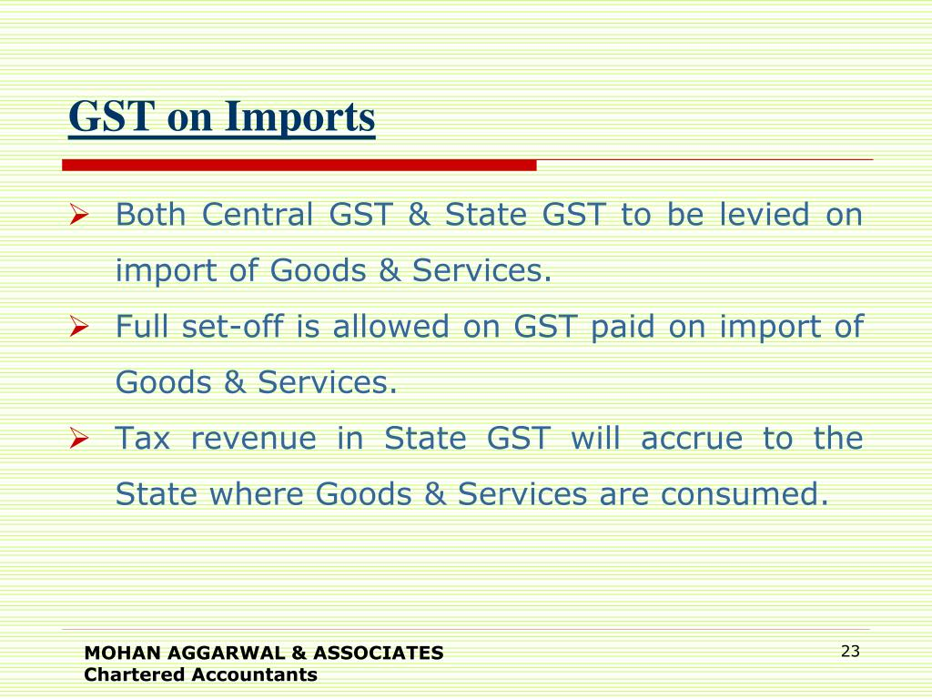GST on Imports